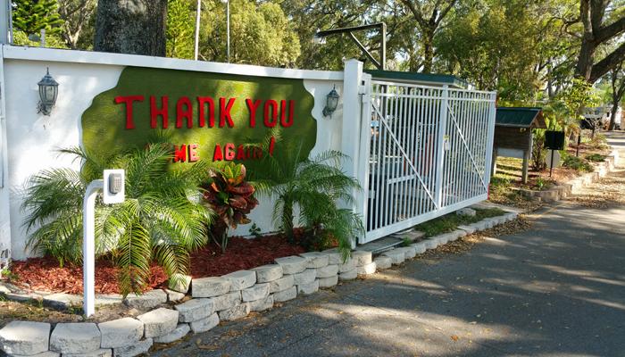 Great Oak RV Resort Is A Gated Community