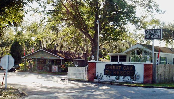 Great Oak RV Resort Entrance